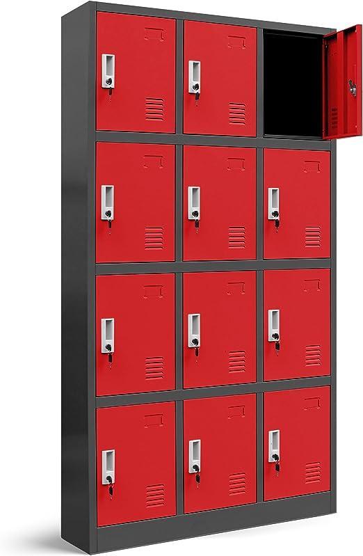 gris//gris Valor compartimento Armario 3b4/a taquilla Compartimiento Armario Metal taquilla de chapa de acero revestimiento de polvo Color a elegir 185/cm x 90/cm x 40/cm H x B x T