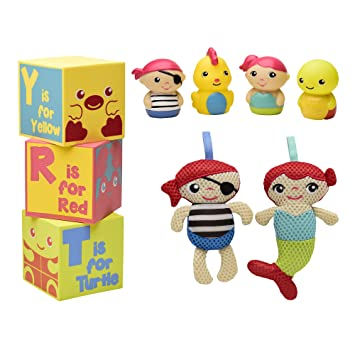 Magic Years 9-Piece Pirate Bath Toy Bundle Great for bathtime or outside in the sun