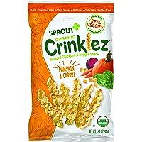 Sprout Organic Crinklez Toddler Snacks, Pumpkin Carrot, 1.48 Ounce Bag (Single)