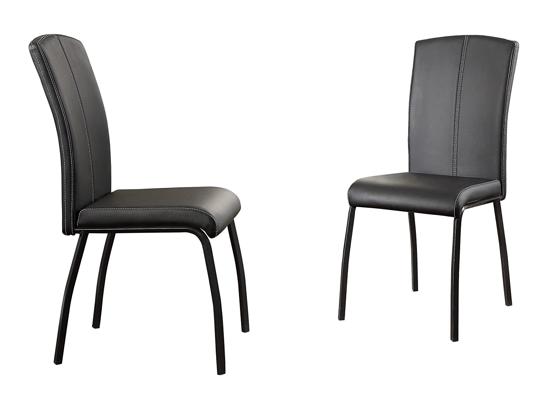 Homelegance 5155S Upholstered Dining Chair, Black Bi-Cast Vinyl, Set of 2