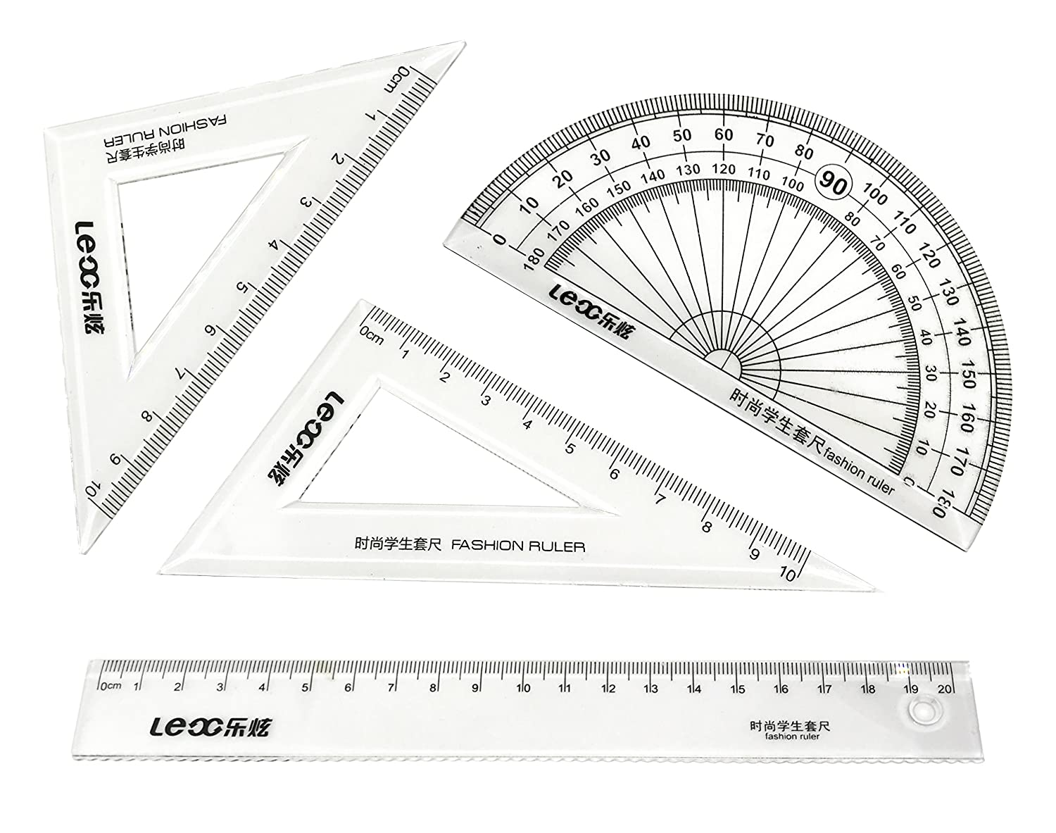 Protractor Pattern Drafting Tool Kit Set for Beginner Writing Station 30692