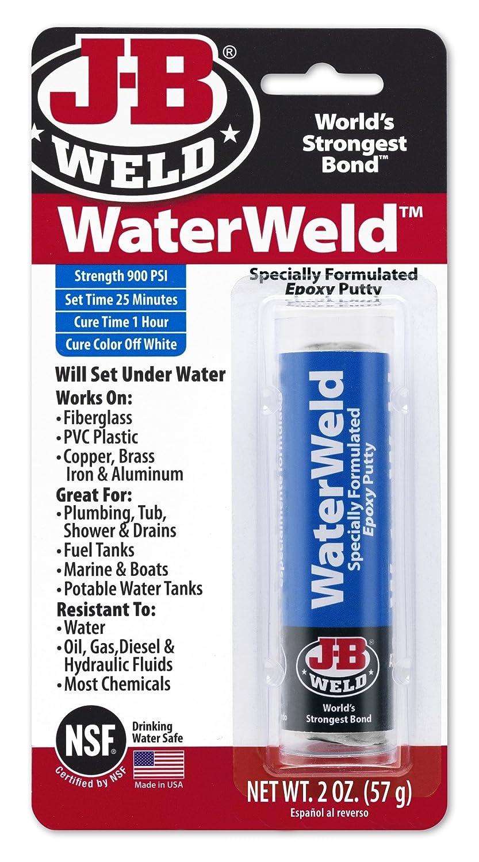 J-B Weld 8277 WaterWeld Epoxy Putty Stick, 2 Oz