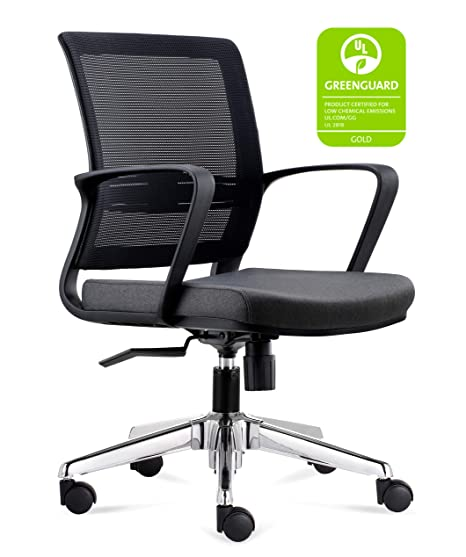 Amazon.com: chairlin silla de oficina de malla, gris ...