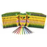 Crayola Colored Pencils, 24 Packs of 12-Count Colored Pencils, Art Tools in Vibrant Colors, great for School or Home Projects, Adult Coloring