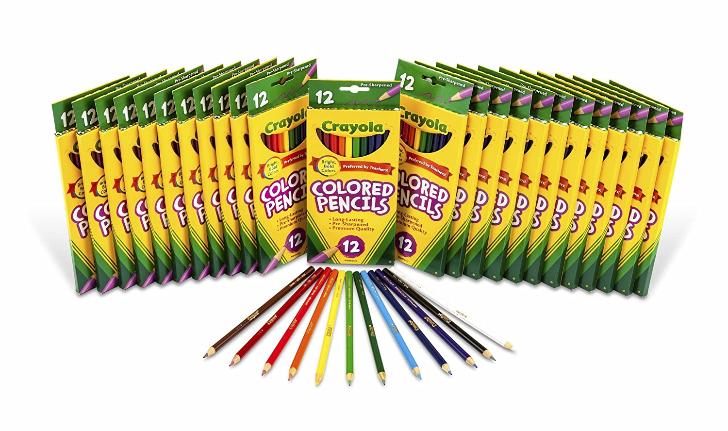 Amazoncom Crayola Colored Pencils Bulk 24 Packs of 12Count Toys