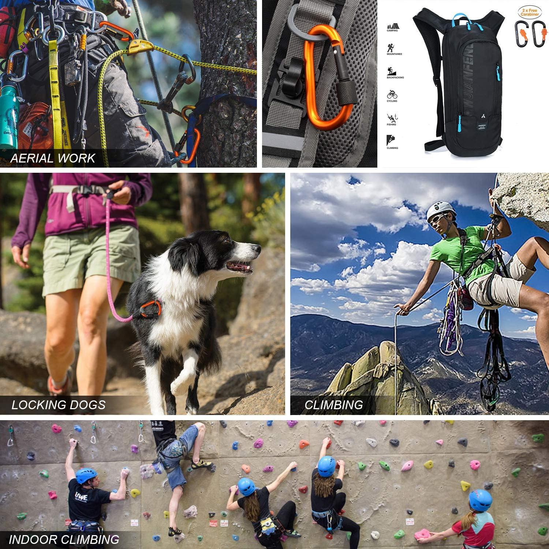 Keethem Mochila impermeable para bicicleta, 10 L, para hombre y mujer, para bicicleta, senderismo, esquí, viajes, con 2 mosquetones