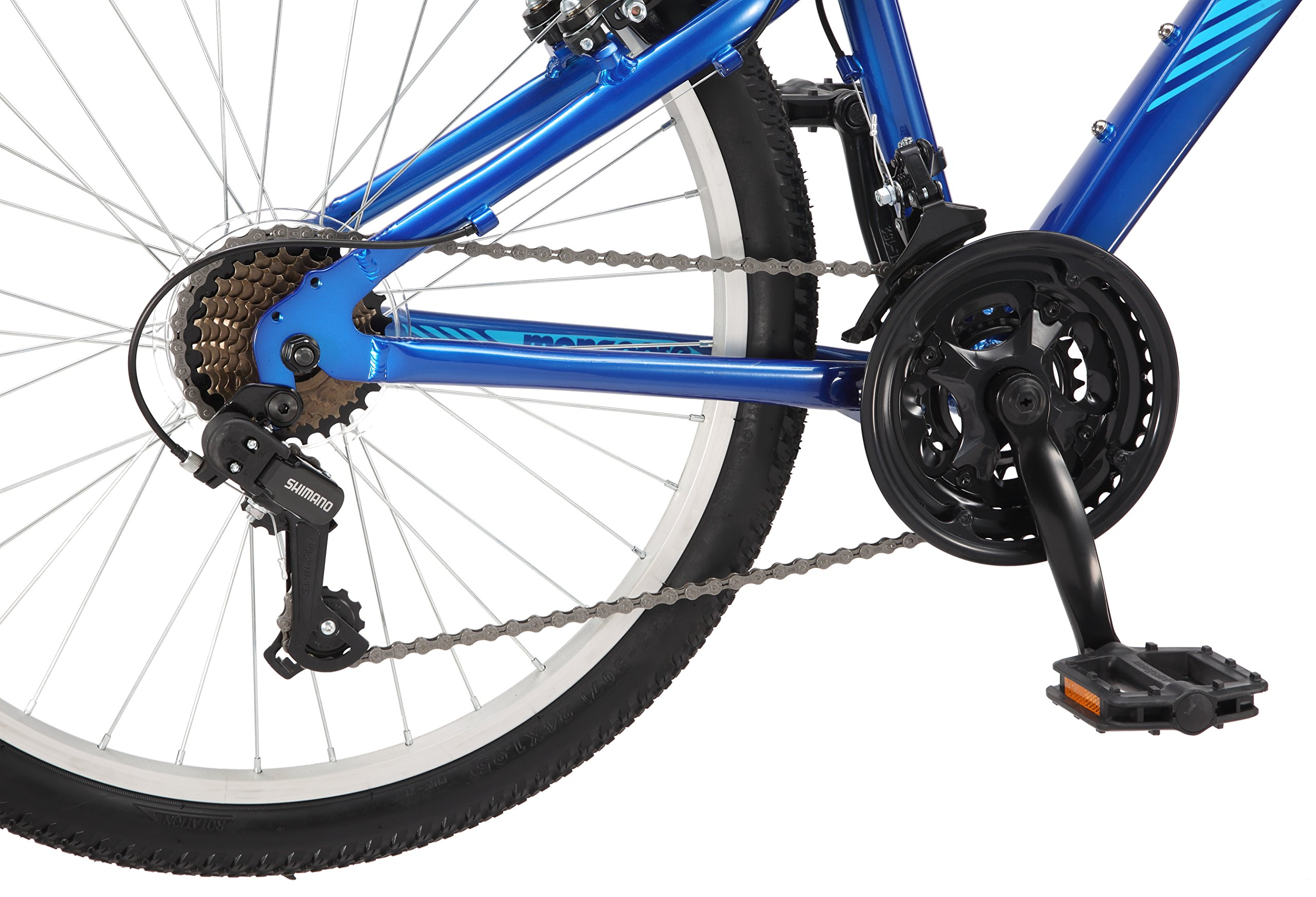 Mongoose Camrock 24'' Wheel Mountain Bicycle, Blue, One Size by Mongoose (Image #7)