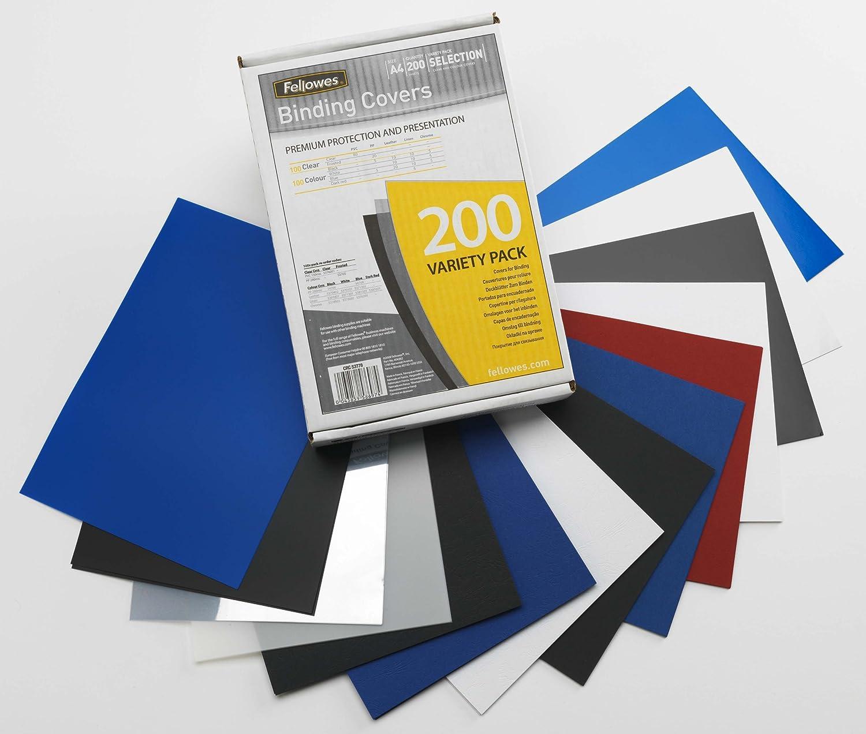 Fellowes Lot de 200 couvertures pour rapport Assortiment de couleurs 5377801