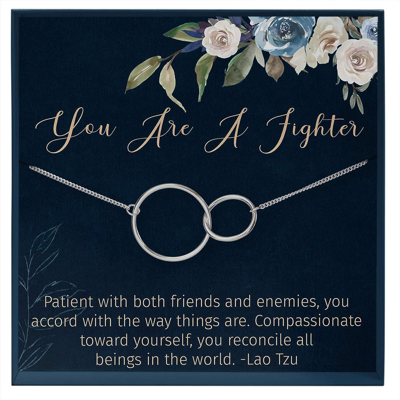 Cancer Sympathy Gift Anchor Necklace: Illness Empathy Thinking of You Chemo Sickness Encouragement Uplifting -2172370