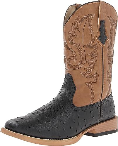 Amazon.com: Roper Men's Basic Square Toe Western Boot: Shoes