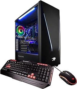 iBUYPOWER Pro Gaming PC Computer DesktopTrace 92060 (Intel i7-8700 3.20GHz, NVIDIA GeForce RTX 2060 6GB, 16GB DDR4-2666 RAM, 1TB HDD, 240GB SSD, WiFi Included, Win 10 Home, VR Ready), Black