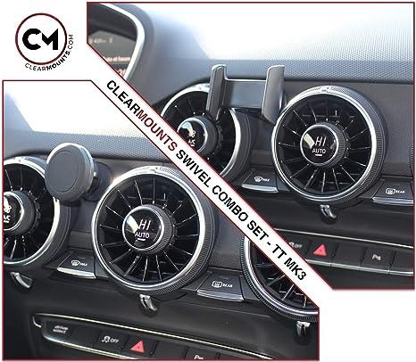 online store 57bac debf7 CLEARMOUNTS Audi Phone Holder – Designed for: 2015-2020 Audi TT – 360  Degree Swivel Magnetic Mounts & Cradle Mount Combo