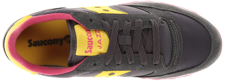 Saucony Originals Women's Jazz Original Sneaker B00DGJK9UI 8 B(M) US|Charcoal/Yellow