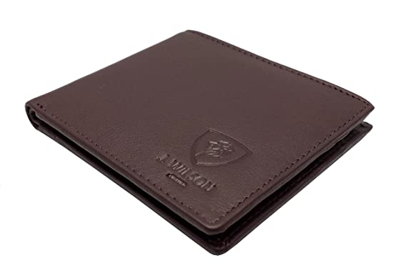 dc608020aa98 RFID BLOCKING Protection Distressed/Nappa Genuine Leather J Wilson London  Mens Wallet With Zip Coin Pocket Gift Boxed