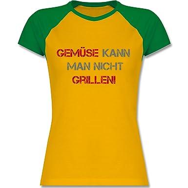 Shirtracer Grill - Gemüse Kann Man Nicht Grillen - S - Gelb/Grün - L195
