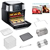 GoWISE USA 17-Quart Air Fryer & Food Dehydrator - 5 Drying Trays plus 6 Additional Accessories - Perfect for Drying Beef Jerk