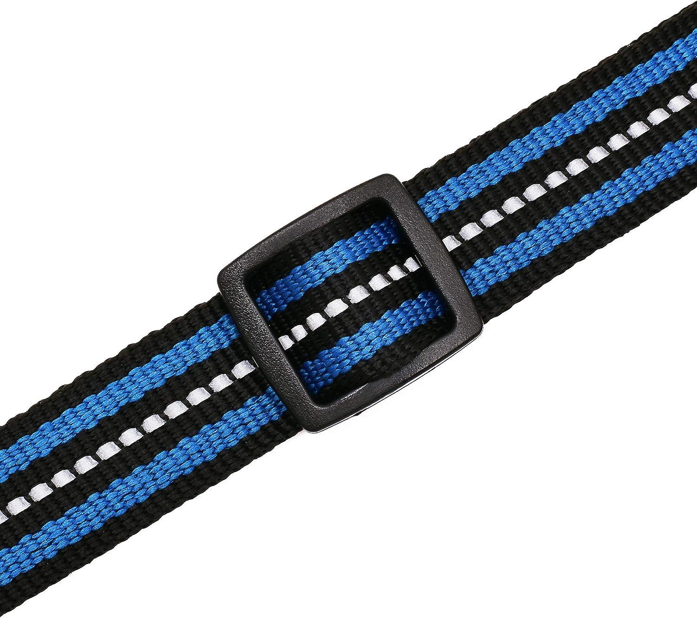 Mile High Life Raissa metallizzate 4 Taglie e 7 Colori Disponibili Collare per Cani con Doppia Fascia Riflettente in Nylon X-Small Neck 9-13 -20 lb