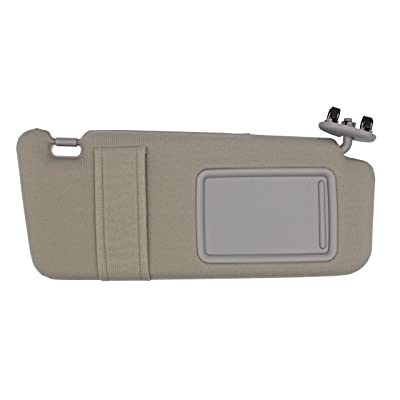 State Warehouse Right Passenger Side Sun Visor Fit for 2007 2008 2009 2010 2011 Toyota Camry and Camry Hybrid Without Sunroof and Light -(Dark Gray): Automotive [5Bkhe1002607]