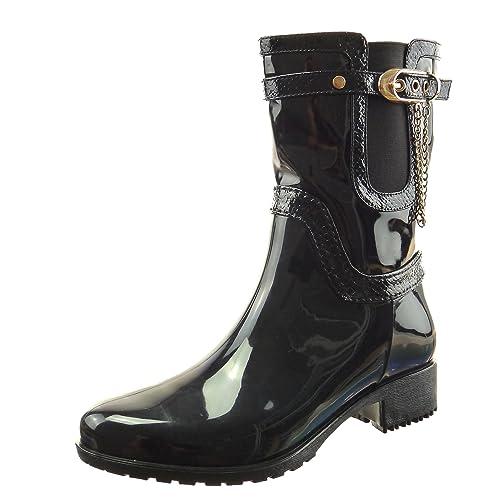Sopily - Scarpe da Moda Stivaletti - Scarponcini Stivali - Scarponi chelsea  boots stivali pioggia donna 9089198926d