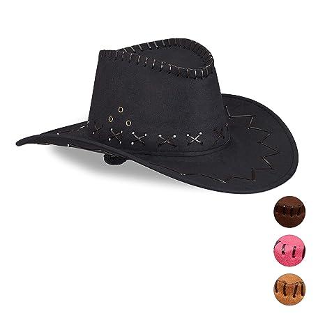 Relaxdays Cappello da Cowboy   Cowgirl per Feste di Carnevale 6fc80789c9f4