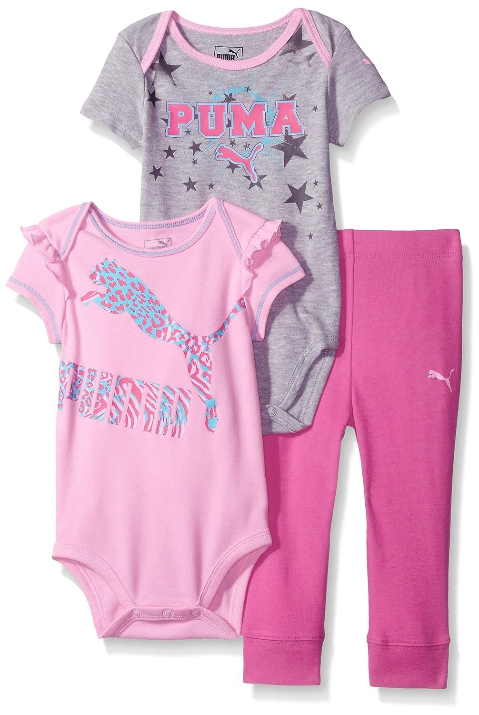 PUMA Baby-Girls Baby 3 Piece Bodysuit Set 11175318