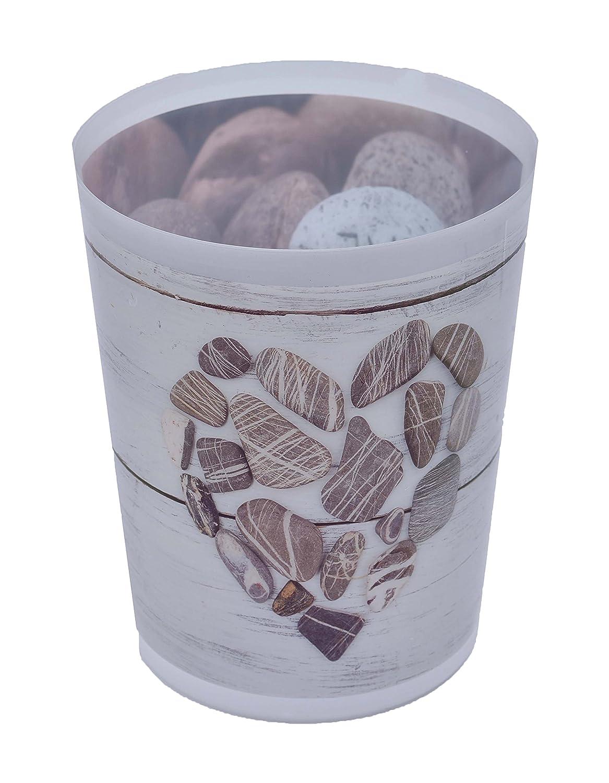 Evideco Printed Bathroom Floor Trash Can Waste Bin Wastebasket 4.5-liters/1.2-Gal, Multi Tendance 6500454