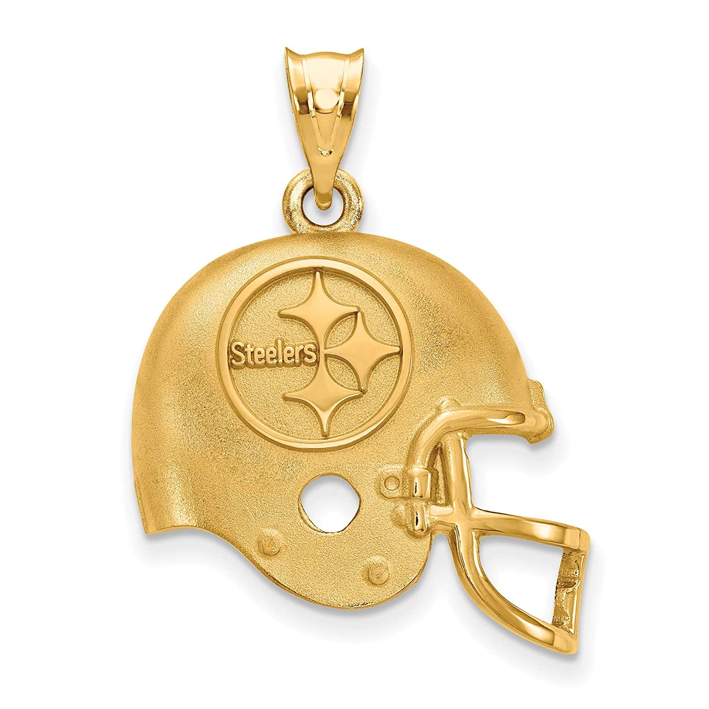 Kira Riley Gold Plated Pittsburgh Steelers Helmet Pendant