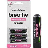 BoomBoom Aromatherapy Nasal Inhaler (3 Pack) Boosts Focus + Enhances Breathing   Provides Fresh Cooling Sensation   Made…