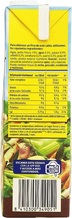 Gallina Blanca Caldo Casero De Pollo 100 Natural 1l Amazon Es Alimentación Y Bebidas