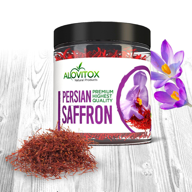 Persian Saffron - Premium Highest Quality Spice, All Natural Organically Grown Persian Saffron Grade 270 (10 gram) by Alovitox