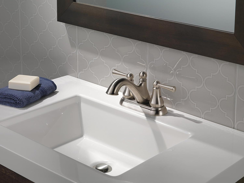 Venetian Bronze 25999LF-RB Standard Plumbing Supply Delta Faucet Haywood 2-Handle Centerset Bathroom Faucet with Drain Assembly