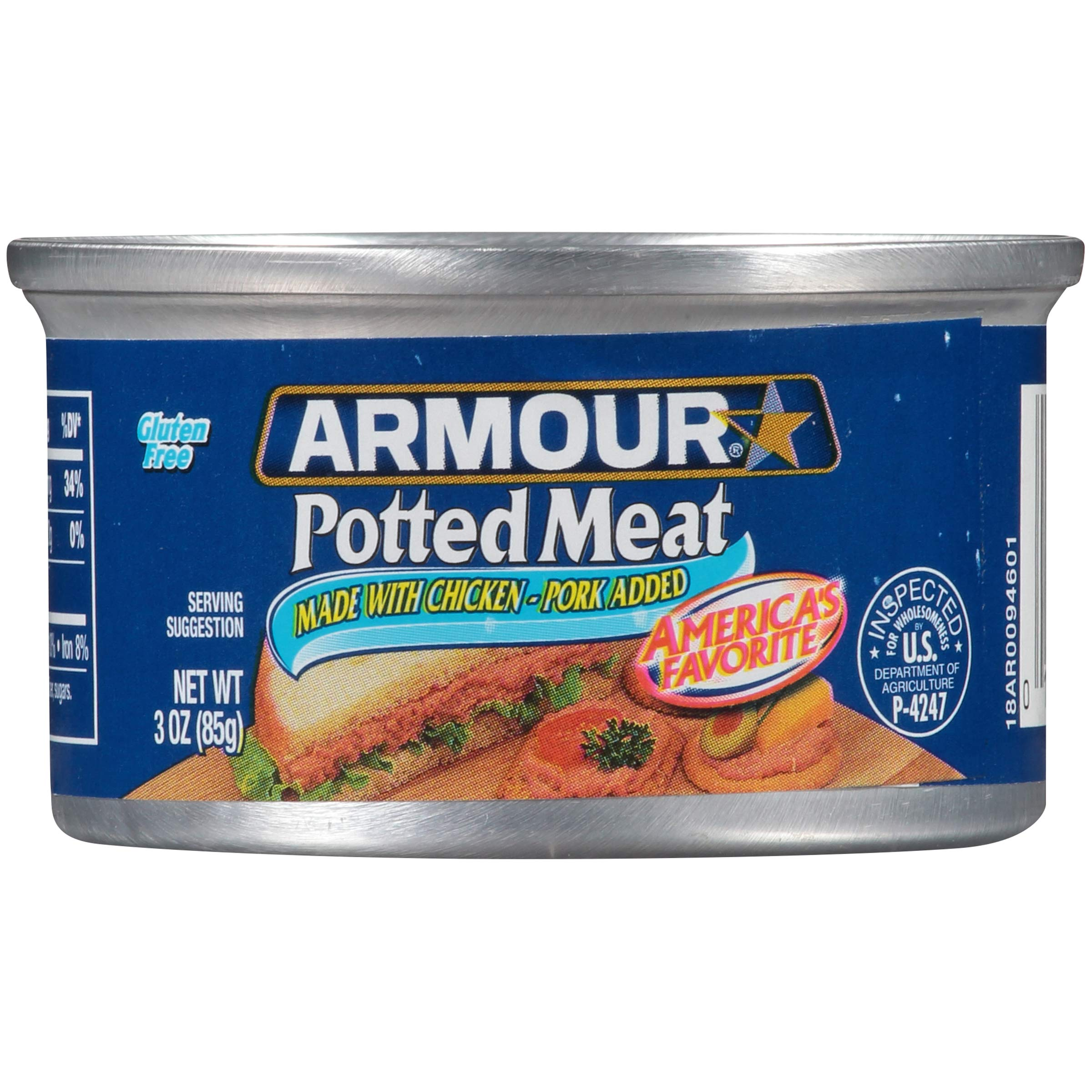 Armour Potted Meat, Chicken and Pork, 3 oz