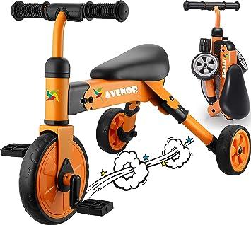 Amazon.com: Triciclo 2 en 1 para niños de 3 años – 2 – 4 ...