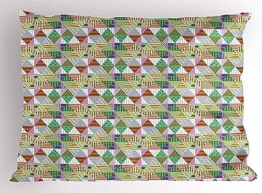 Leisure-Time Funda de Almohada Patchwork, patrón de Mosaico étnico ...
