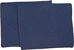 C&F Home Abbott Navy Table Runner Solid Cotton Tablelinen for Dinners Everyday Use Table Runner Navy