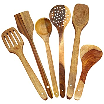 Amazon.com: ITOS365 Handmade Wooden Spoons For Cooking And Serving ...