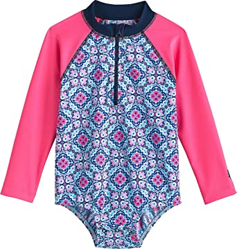 bbd262f4c Amazon.com: Coolibar UPF 50+ Baby Wave One-Piece Swimsuit - Sun Protective:  Clothing