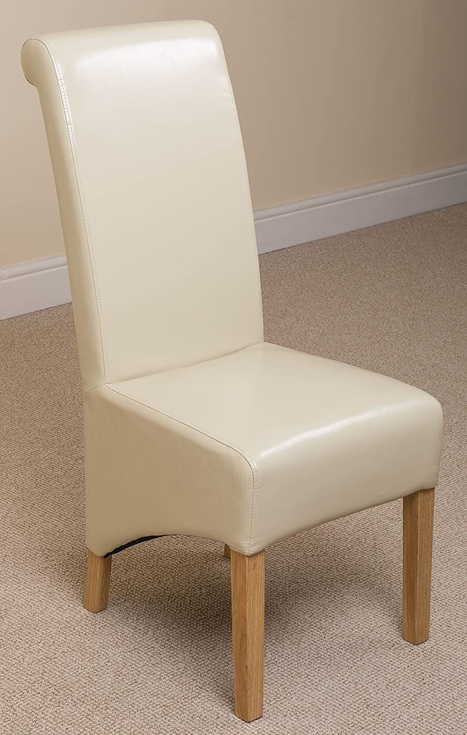 X2 Montana Scroll Back Leather Dining Chairs (Ivory): Amazon.co.uk: Kitchen  U0026 Home Part 48