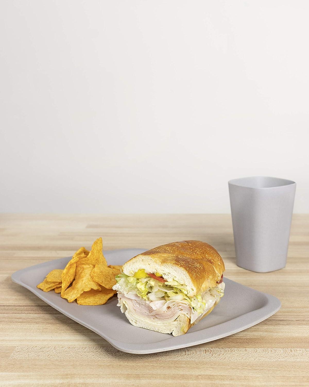 12 x 8 Sandwich Tray, Grey Bamboozle Bamboo Serving Tray