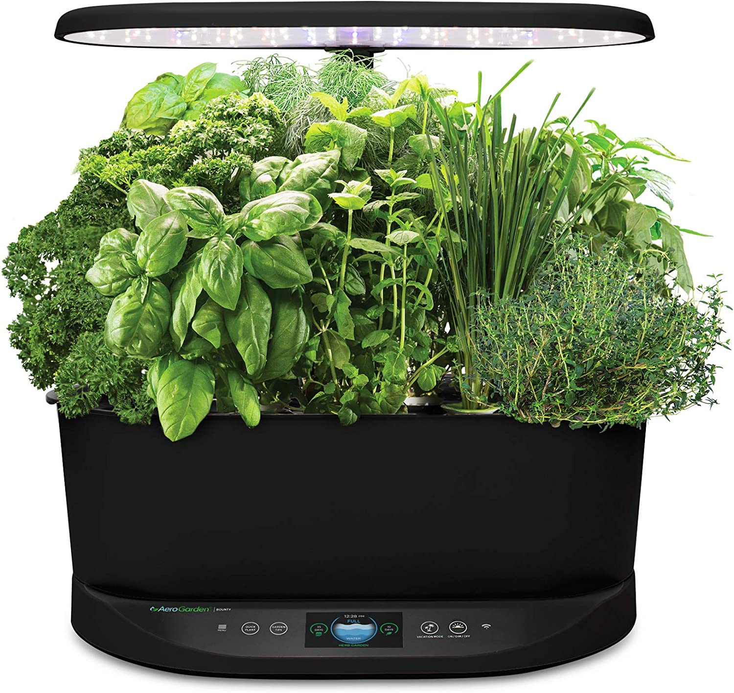 AeroGarden Bounty Indoor Hydroponic Herb Garden, Black
