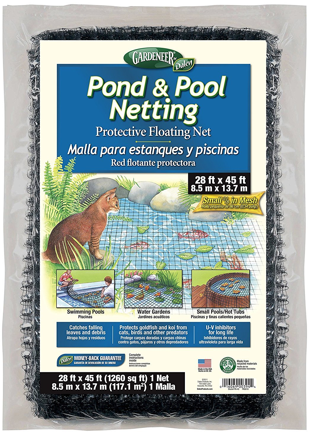 Gardeneer By Dalen Pond & Pool Netting Protective Floating Net 28' x 45' (pack of 2)