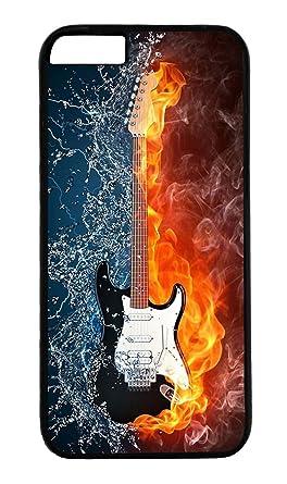 BLACKASE Carcasa de Protección para iPhone 6 Plus/6S Plus – Guitarra eléctrica en Fuego