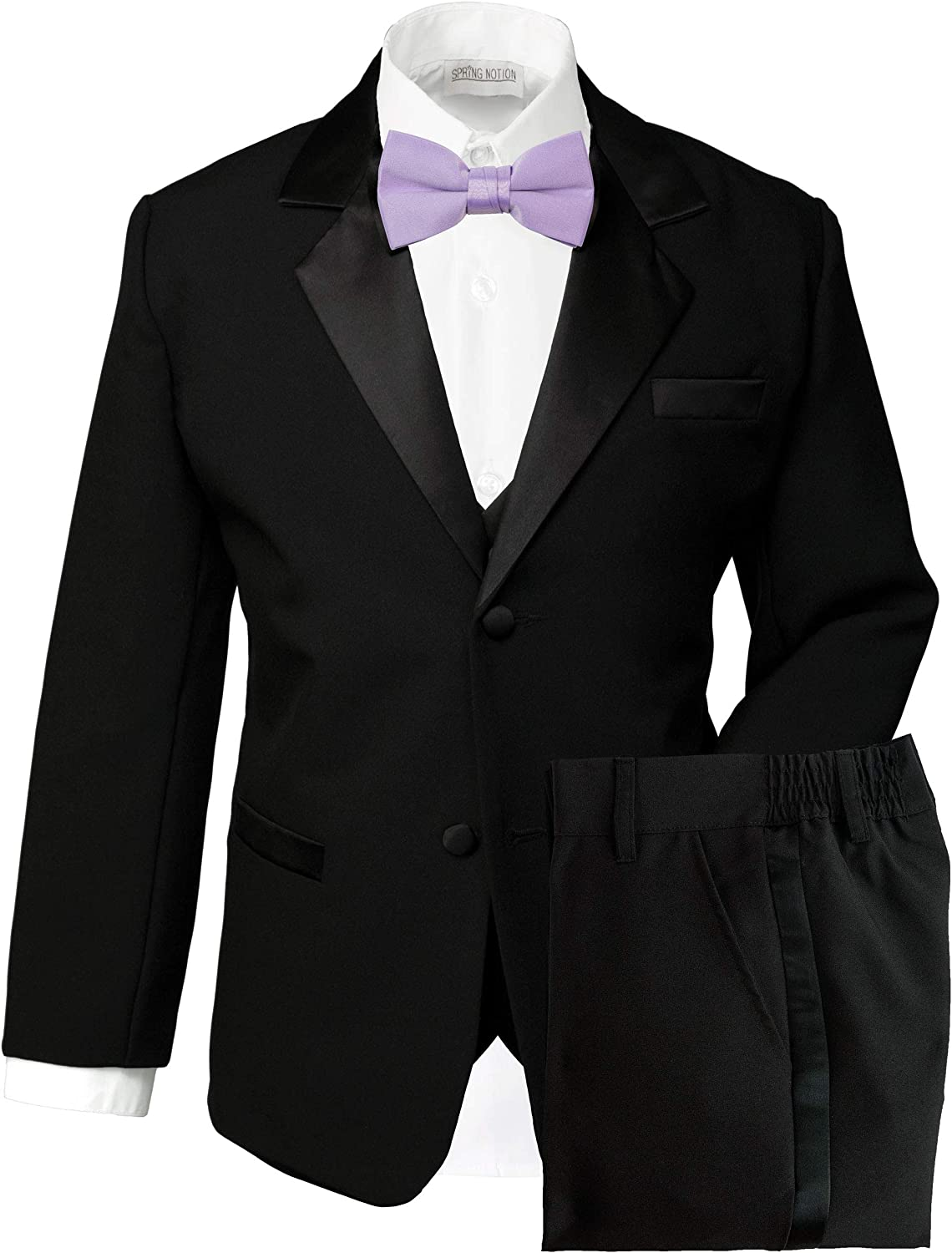 No Tail Spring Notion Boys Classic Fit Tuxedo Set