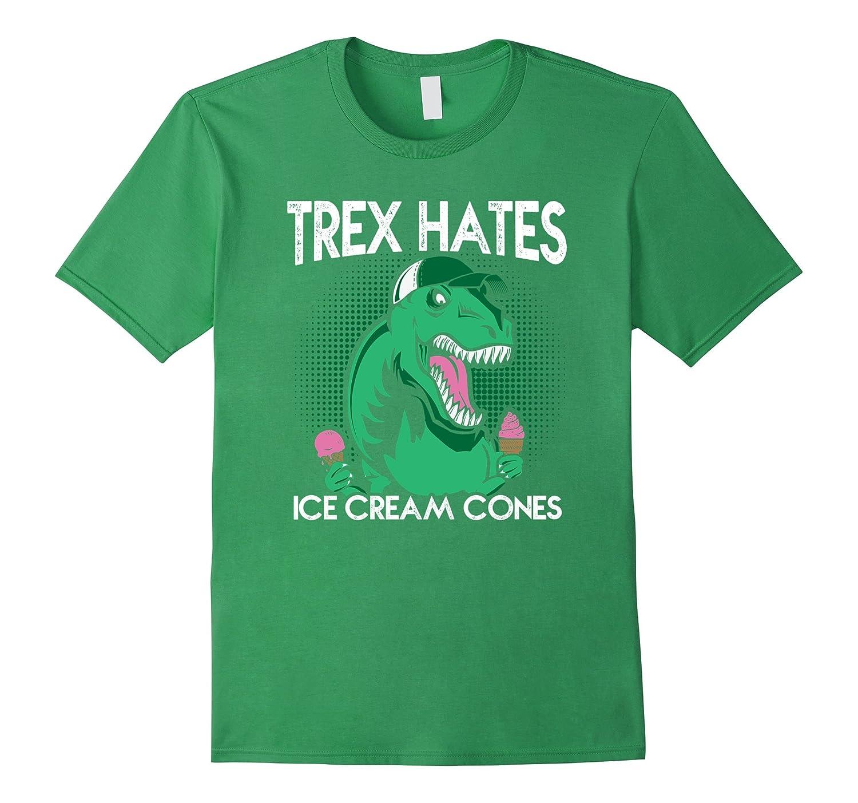 T-Rex Hates Ice Cream Cones T-Shirt-RT