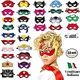 Take Inspire | Assortiment de 32 Masques de Super héros | Nouvelle Edition | Enfants et Adultes | Masques pour fêtes Cosplay | Idées de Cadeaux pour Fin d'Anniversaire