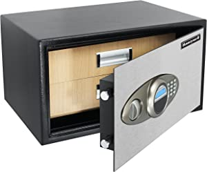Honeywell 5612 Two Drawer Jewelry Steel Safe with Digital Lock, 0.84-Cubic Feet, Black/Chrome