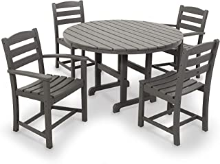 product image for POLYWOOD La Casa Café Dining Set, Slate Grey