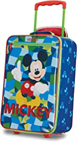 American Tourister Kids' Disney Softside Upright Luggage, Mickey Mouse 2, Carry-On