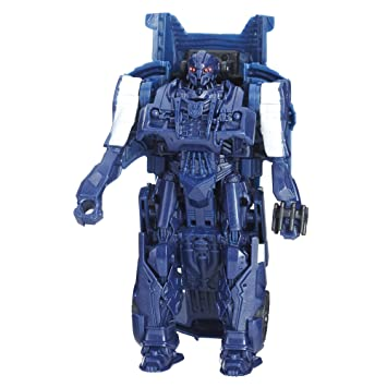 Transformers: The Last Caballero 1-Step Turbo cambiador cyberfire Barricade: Amazon.es: Juguetes y juegos