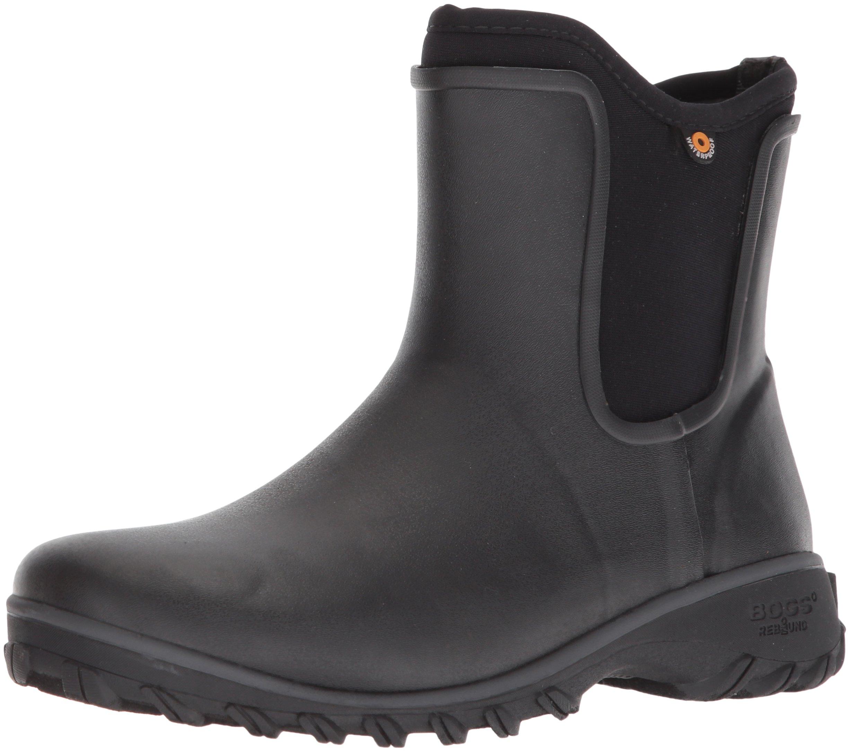 Bogs Women's Sauvie Slip Chukka Boot, Black, 7 Medium US